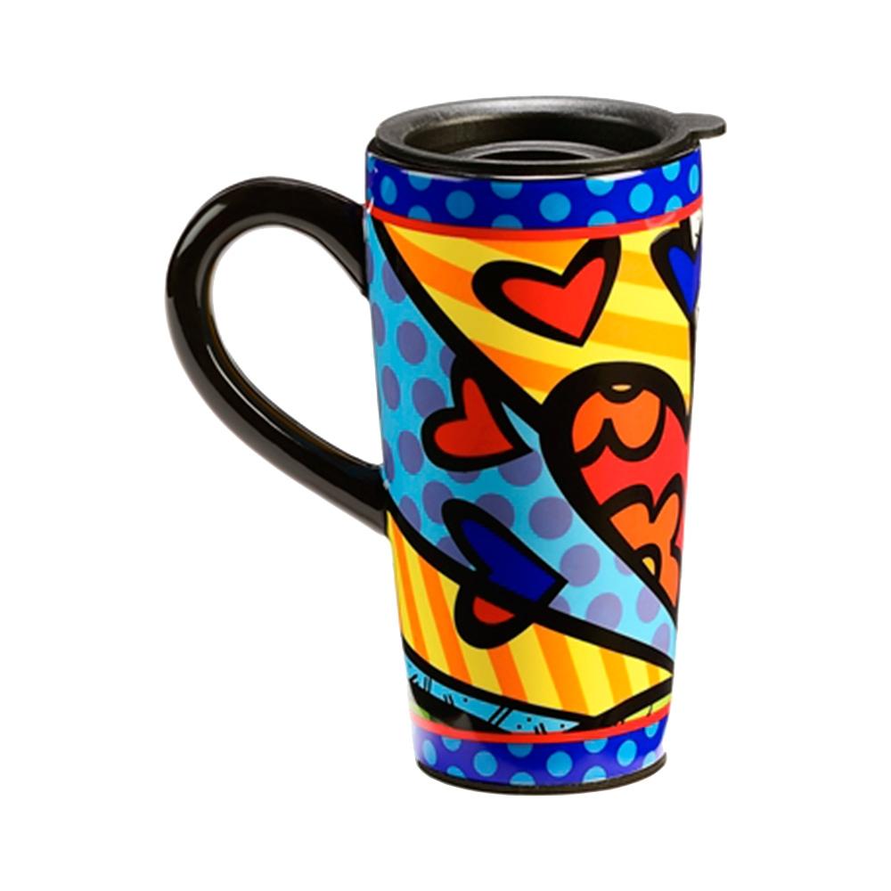Caneca para Viagem A New Day Colorida - Romero Britto - em Cerâmica - 16x8 cm