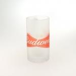 Caneca de Chopp Budweiser em Vidro Jateado - 15x8 cm