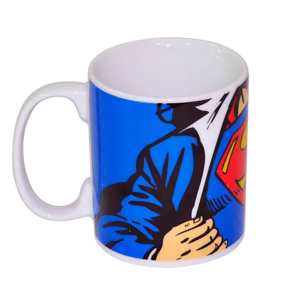 Caneca DC Comics Superman Colorida 300 ml em Porcelana - Urban - 9,5x7,8 cm