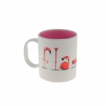 Caneca flamingos palavra