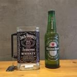 Caneca Garrafa Jack Daniel's Preta - 16x8 cm
