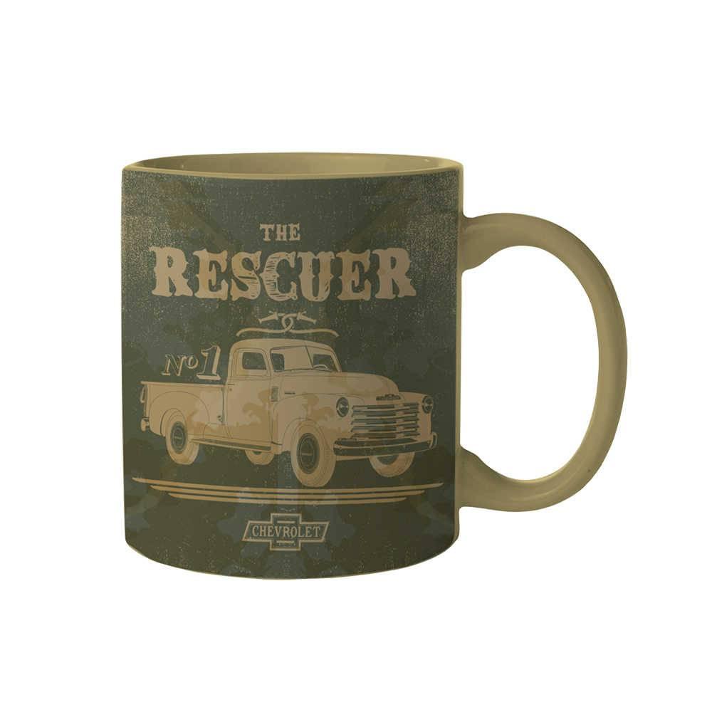 Caneca GM Vintage The Rescuer Car Verde 300 ml em Porcelana - Urban - 9,5x7,8 cm