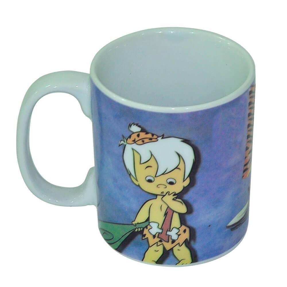 Caneca HB Flintstones Bambam And Crying Pebble Colorida em Porcelana - 300 ml - Urban - 9,5x7,8 cm