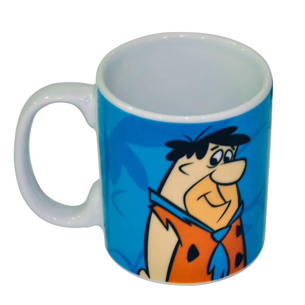 Caneca HB Fred Flintstones Shadows Azul em Porcelana - 300 ml - Urban - 9,5x7,8 cm