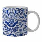 Caneca New Indigo Accessories Azul em Porcelana - 300 ml - Urban - 9,5x7,8 cm