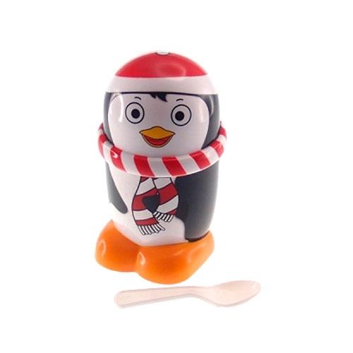 Caneca Pinguim para Sorvete - 15x12 cm
