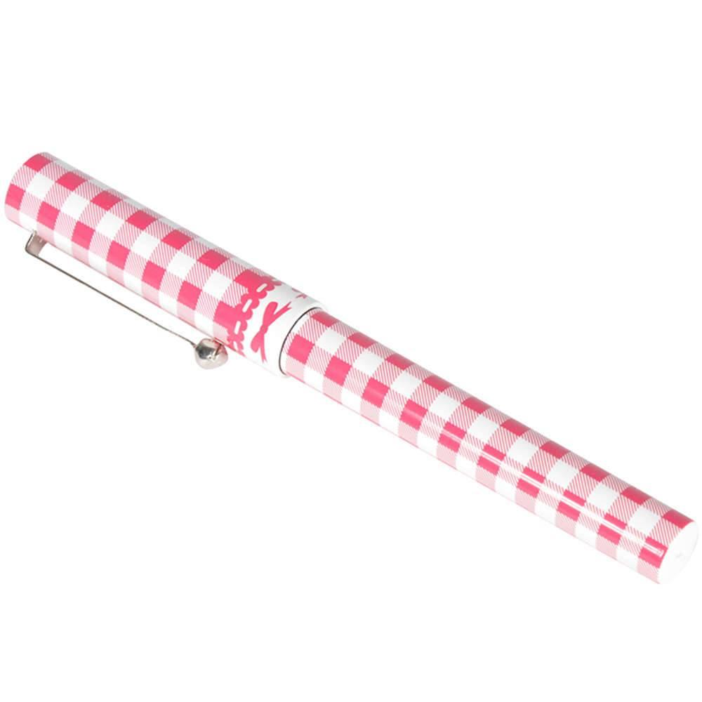 Caneta Branca Quadrados Pink - Urban - 13,1x8,1 cm
