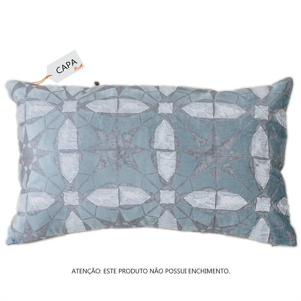 Capa para Almofada Angra Azul em Algodão - 50x30 cm