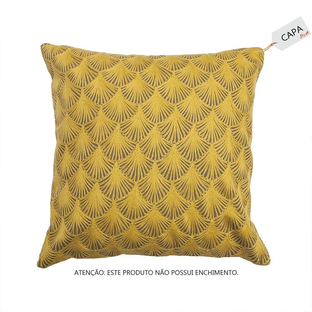 Capa para Almofada Bartolli Mostarda em Algodão - 45x45 cm