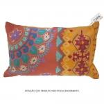 Capa p Almofada Chandra Fancy Colorida em Algodão - 50x30 cm