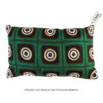 Capa para Almofada Circles Verde em Algodão - 50x30 cm