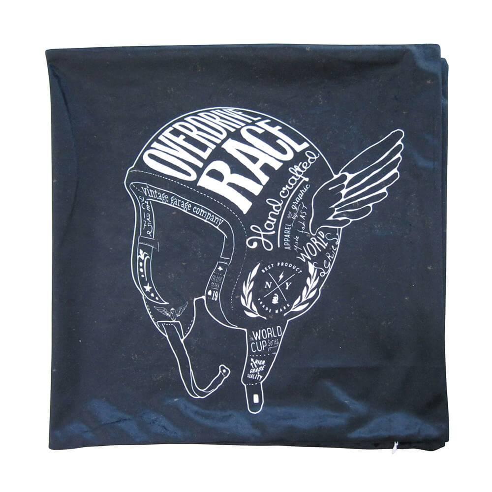 Capa para Almofada Dark Helme With Wings Preto em Poliester - Urban - 45x45 cm