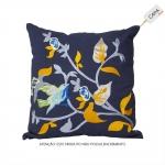 Capa para Almofada Dayla Azul em Algodão - 45x45 cm