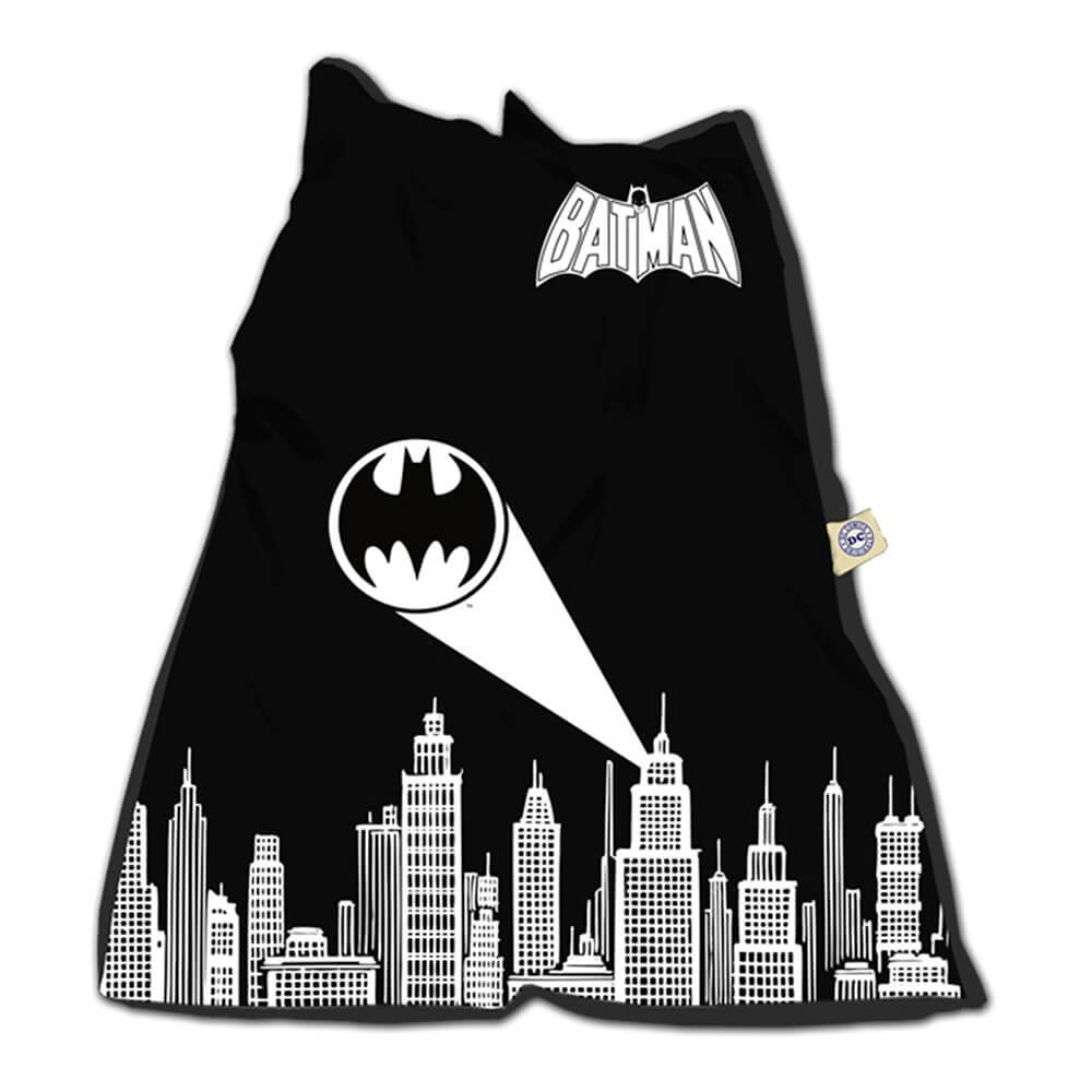 Capa para Almofada DC Comics Batman Gottam City Sign Preta em Poliester - Urban - 115x90 cm