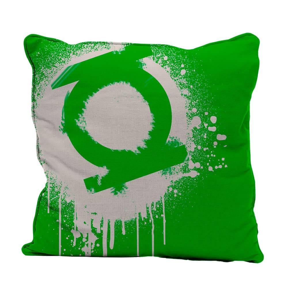 Capa para Almofada DC Comics Green Light Logo Grafit Art em Poliester - Urban - 45X45 cm