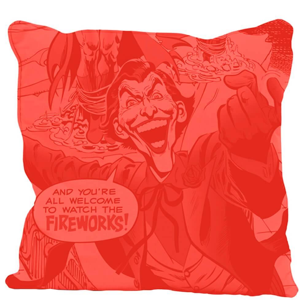 Capa para Almofada DC Comics Joker Fireworks em Poliester - Urban - 45x45 cm