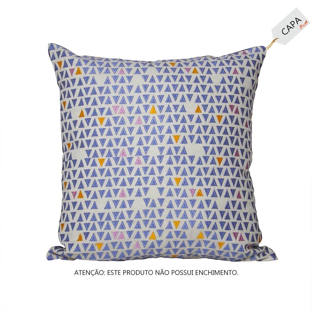 Capa para Almofada Elize Azul em Algodão - 45x45 cm