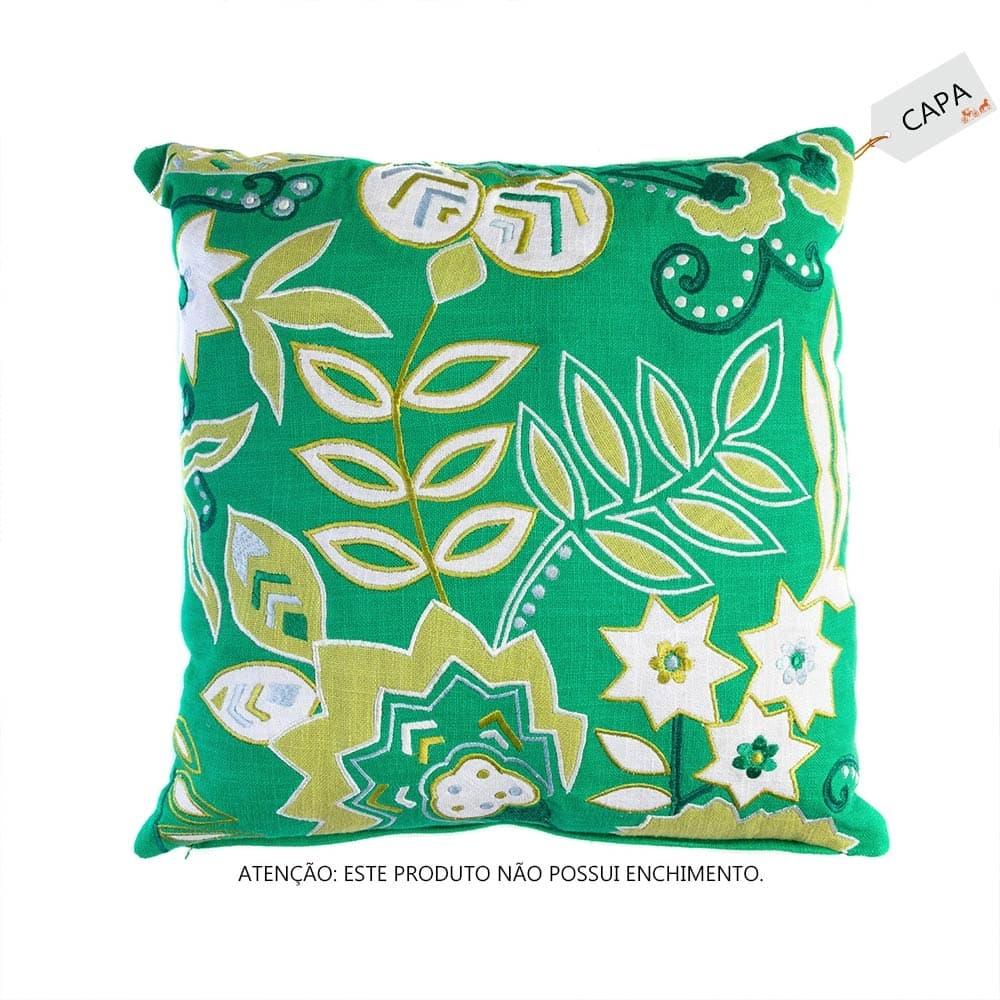 Capa para Almofada Floresta Verde em Algodão - 45x45 cm