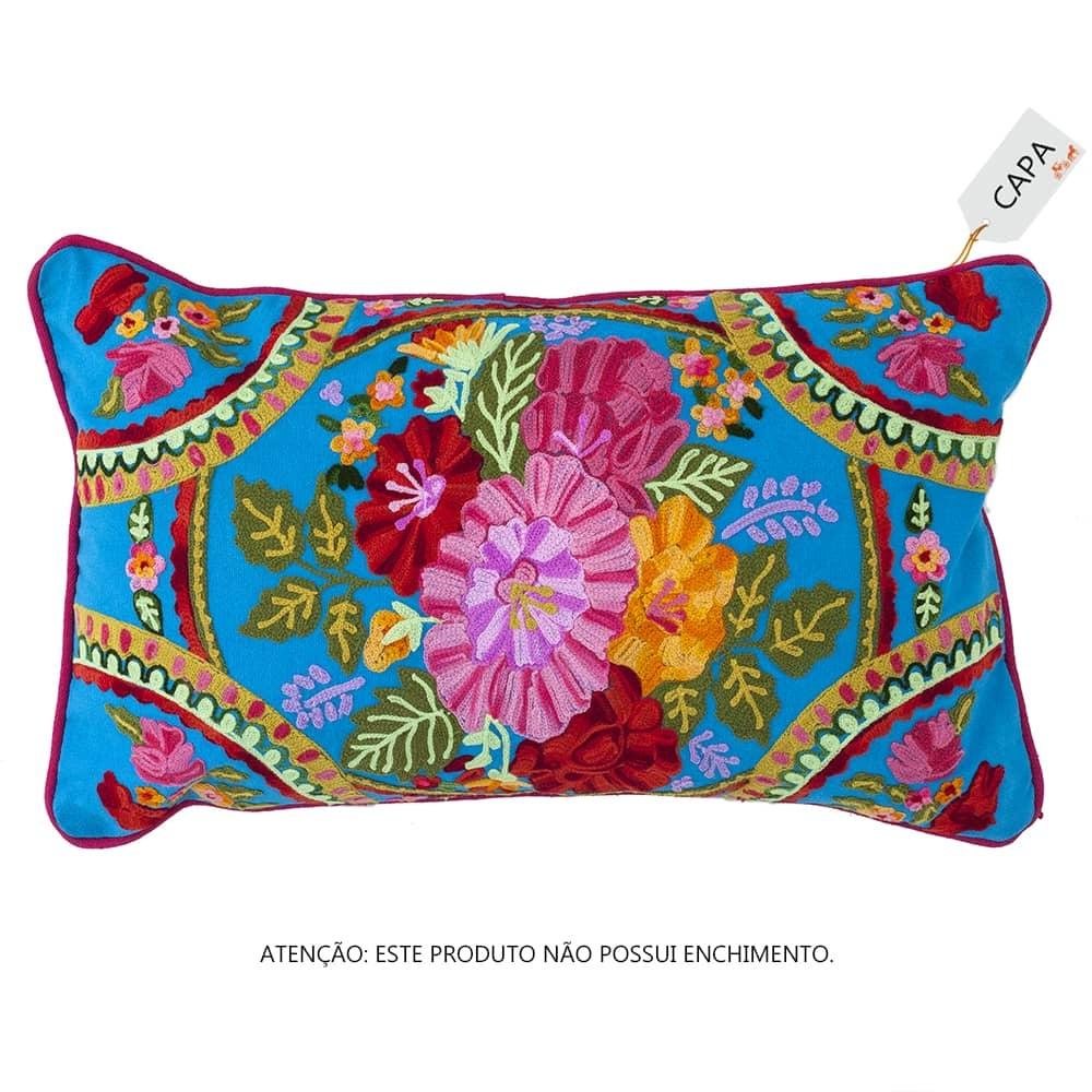 Capa para Almofada Guadalupe Colorida em Algodão - 45x45 cm