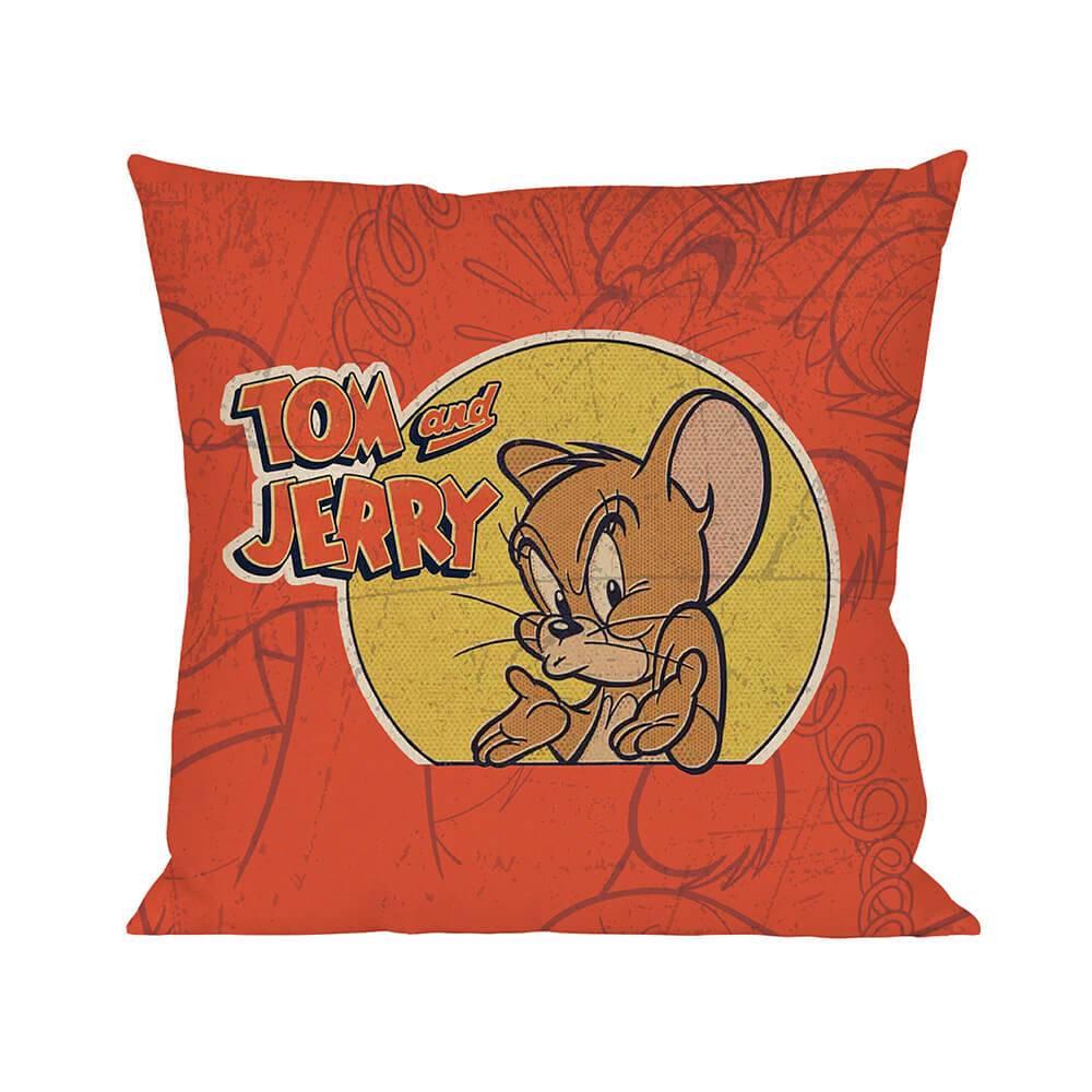 Capa para Almofada Hanna Barbera Tom and Jerry Mad Mouse em Poliester - Urban - 45x45 cm