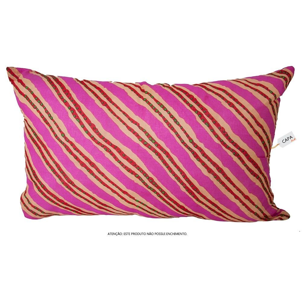 Capa para Almofada Listras Colore em Algodão - 50x30 cm