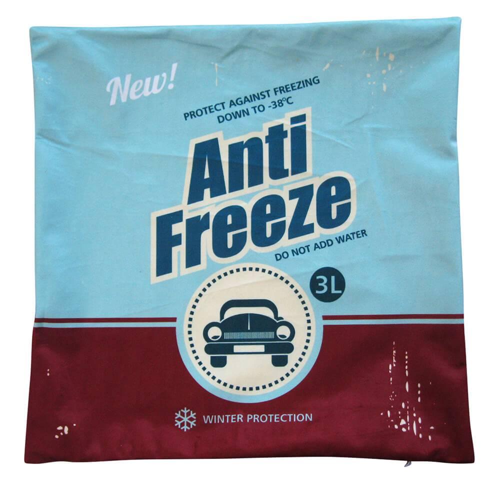 Capa para Almofada Loft Anti Freeze Azul em Poliester - Urban - 45x45 cm