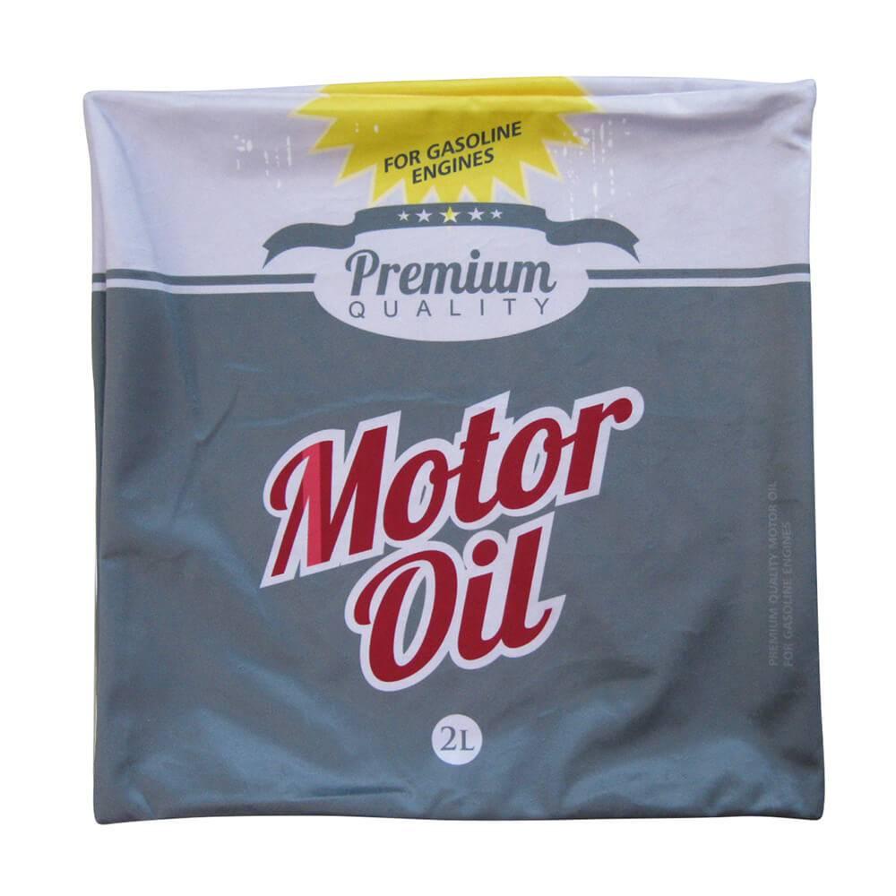 Capa para Almofada Loft Motor Oil Cinza em Poliester - Urban - 45x45 cm
