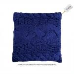 Capa para Almofada Milla Azul Royal em Algodão - 45x45 cm