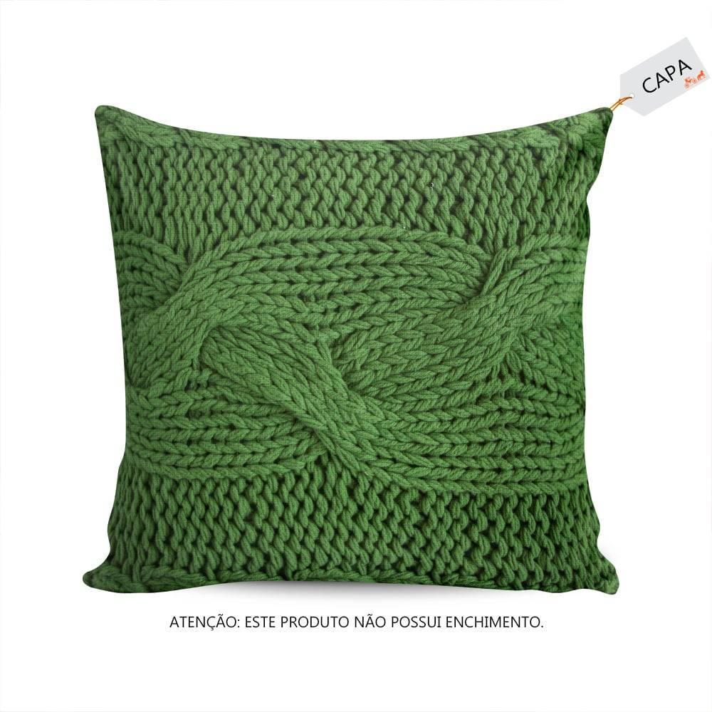 Capa para Almofada Milla Verde em Algodão -  45x45 cm