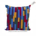 Capa para Almofada Multicolor em Algodão - 45x45 cm