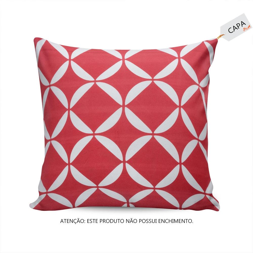 e1b701832 Capa de Almofada Ruby Vermelho e Branco em Algodão - Compre Capas ...