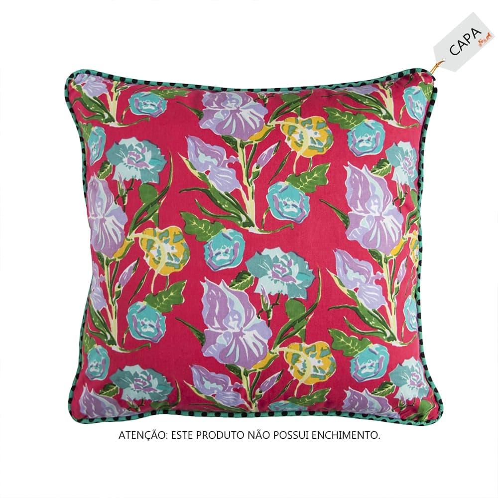 Capa para Almofada Stella Rosa Pink em Algodão - 45x45 cm