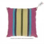 Capa para Almofada Stripes Colorida em Algodão - 45x45 cm