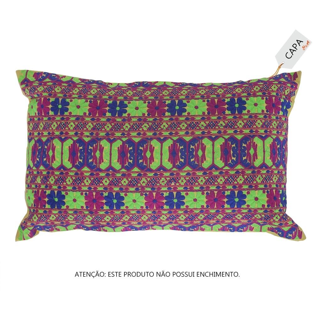 Capa para Almofada Taly Varied Colorida em Algodão - 50x30 cm
