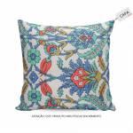 Capa para Almofada Tammy Floral Colorida em Algodão