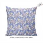 Capa para Almofada Vania Floral Roxo em Algodão - 45x45 cm
