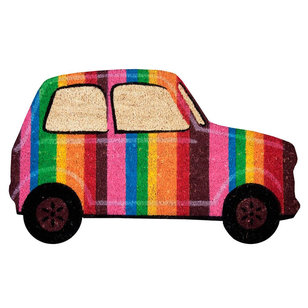 Capacho Carro Colorido com Base em PVC - Urban - 75x45 cm