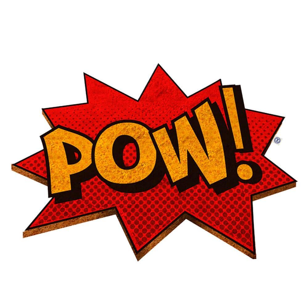 Capacho DC Comics POW! Colorido em Fibra de Coco - Urban - 80x55 cm