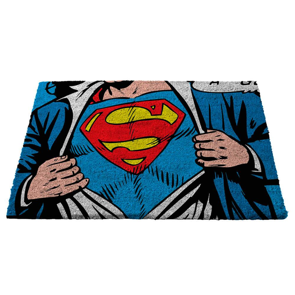 Capacho DC Comics Superman Colorido em Fibra de Coco - Urban - 76x46 cm