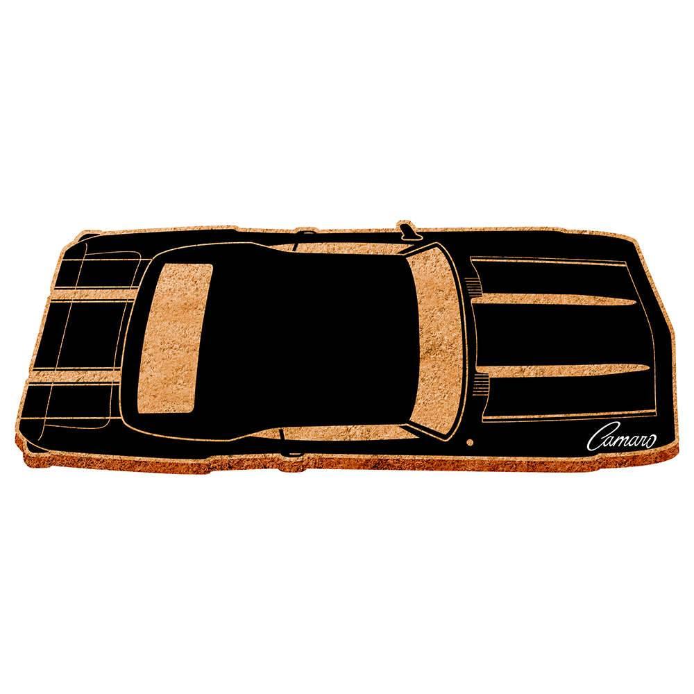 Capacho GM Top View Black Camaro em Fibra de Coco e PVC - Urban - 70x30 cm