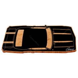 Capacho GM Top View Black Camaro em Fibra de Coco e PVC