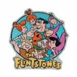 Capacho Hanna Barbera The Flintstones All Family Happy em Fibra de Coco e PVC - Urban - 63x60 cm