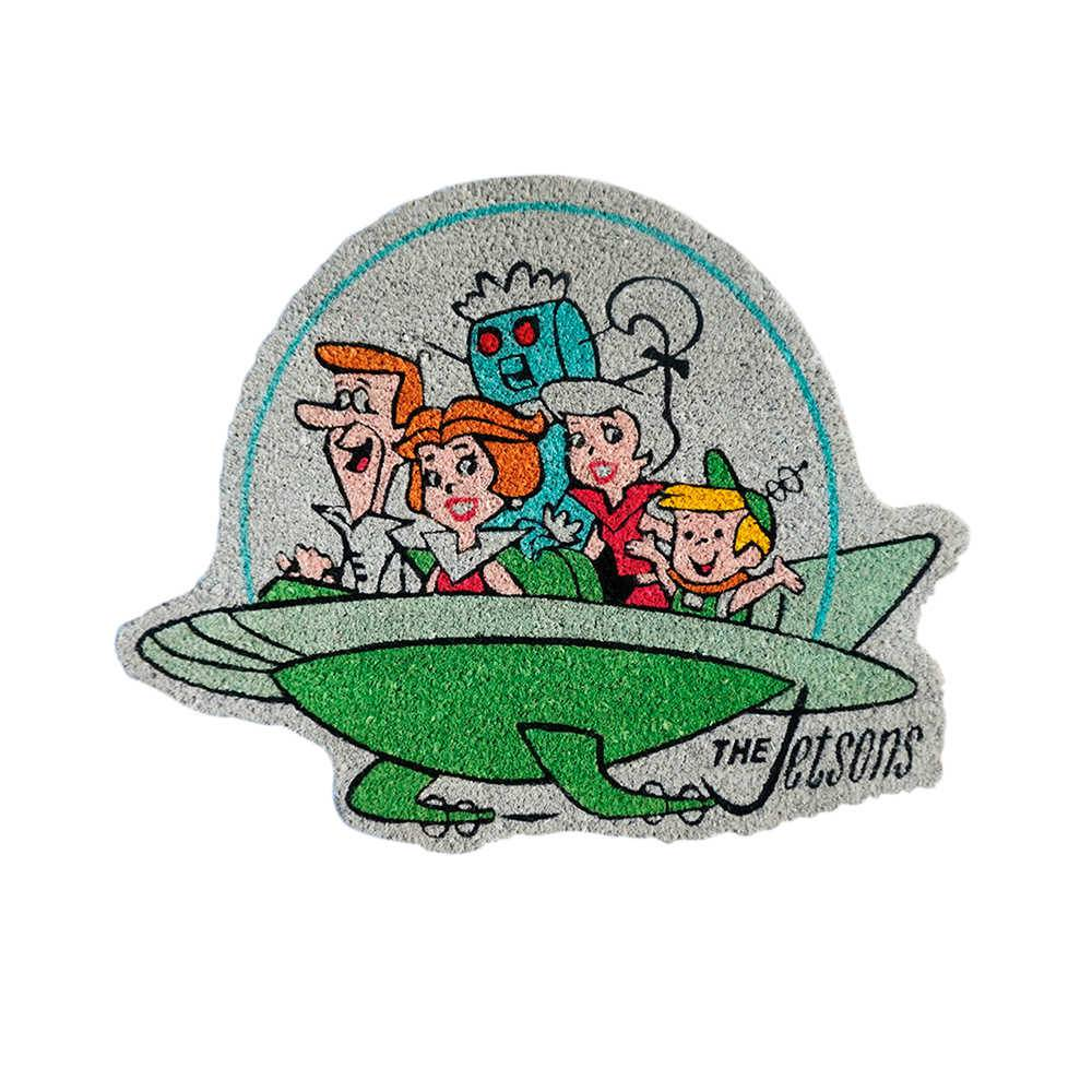 Capacho Hanna Barbera The Jetsons Family In a Spaceship em Fibra de Coco e PVC - 82x62 cm
