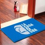 Capacho La Casa É Sua Emborrachado Azul - 60 cm x 40 cm - Carpet Black