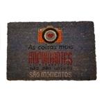 Capacho Momentos em Fibra de Côco - 60x40 cm
