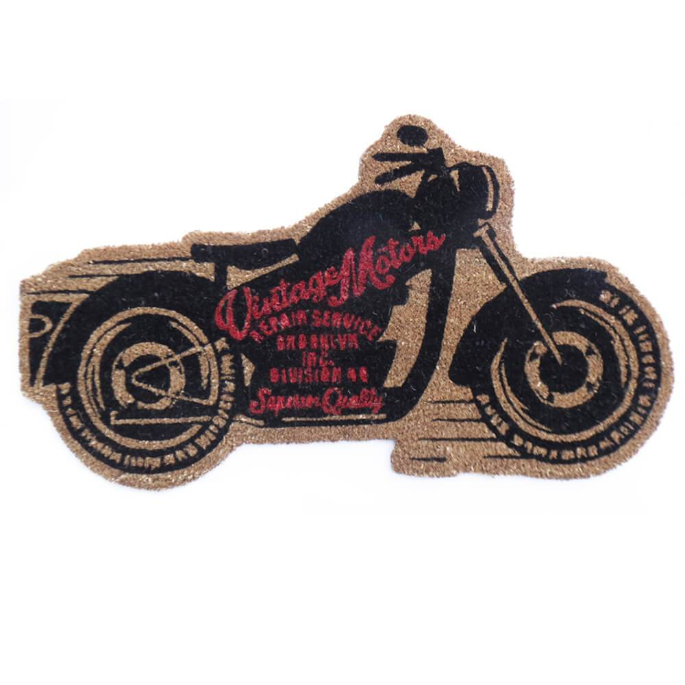 Capacho Motorcycle Preto em Fibra de Coco - Urban - 80x45 cm
