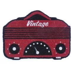 Capacho Rádio Vintage Vermelho em Fibra de Coco - Urban