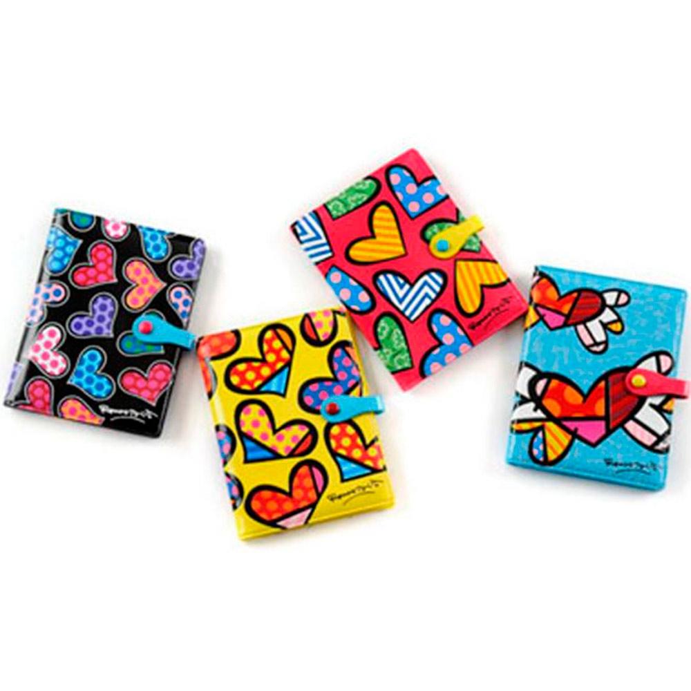 Capas para Passaporte Hearts - 4 Peças - Multicoloridas em Courino - 16x12 cm