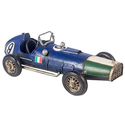 Carro de Corrida Ferrari Ítaly Azul Cup Oldway - 32x14 cm
