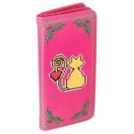 Carteira Amor de Pixel Gato Rosa em Tecido - 19x9 cm